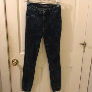 American Eagle Sky High Acid Wash Jeggings